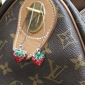 Lita & Co. Jewelry - Strawberry dangle earrings.